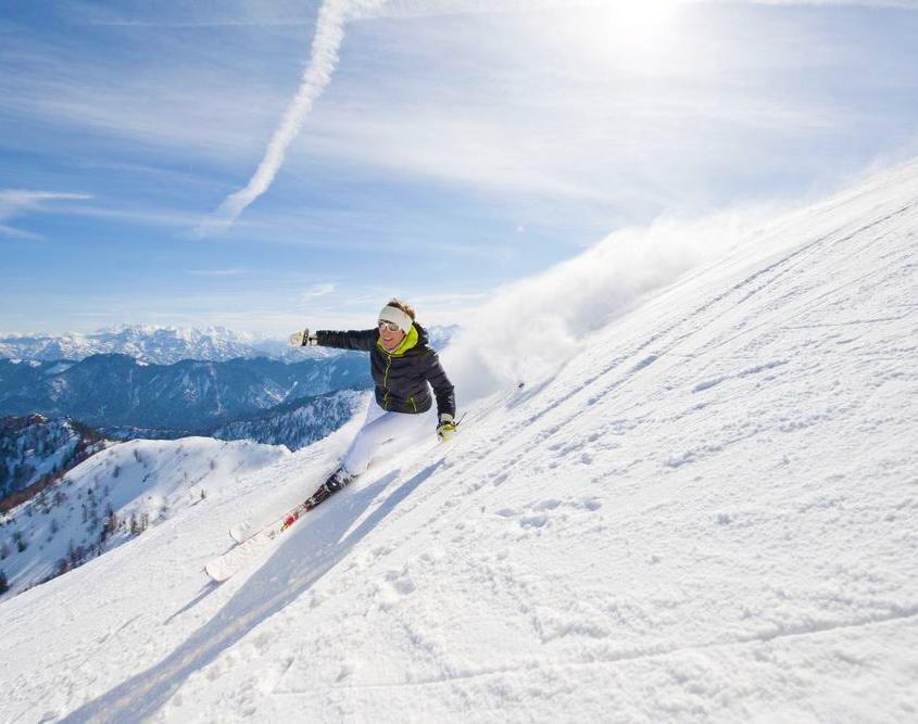 ehemalige Skirennläuferin Evi Mittermaier-Brundobler am Hochfelln