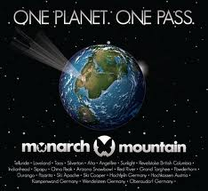 Werbegrafik des US-Skigebiets Monarch Mountain